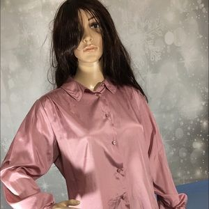 👚Rose Colored Long Sleeve Dress Blouse👚